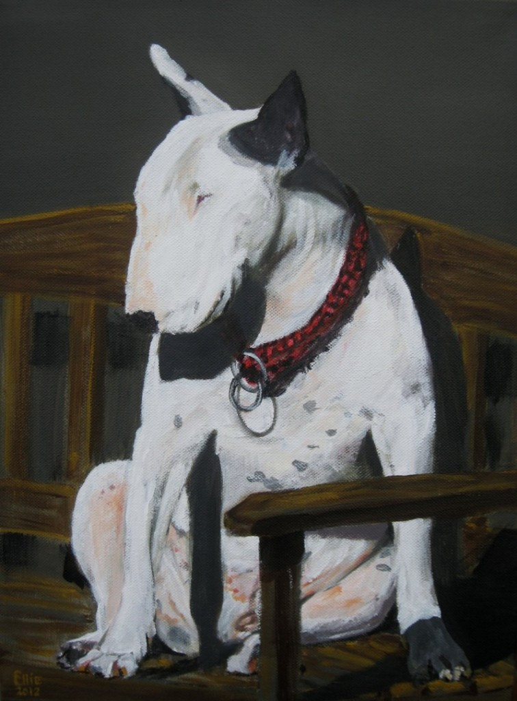 Take it easy of the sunny dogs - Paardenschilderij - Ellie Schrotenboer