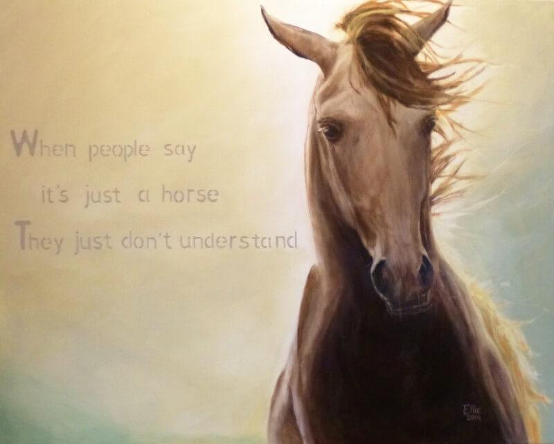 Not just a horse - Paardenschilderij - Ellie Schrotenboer