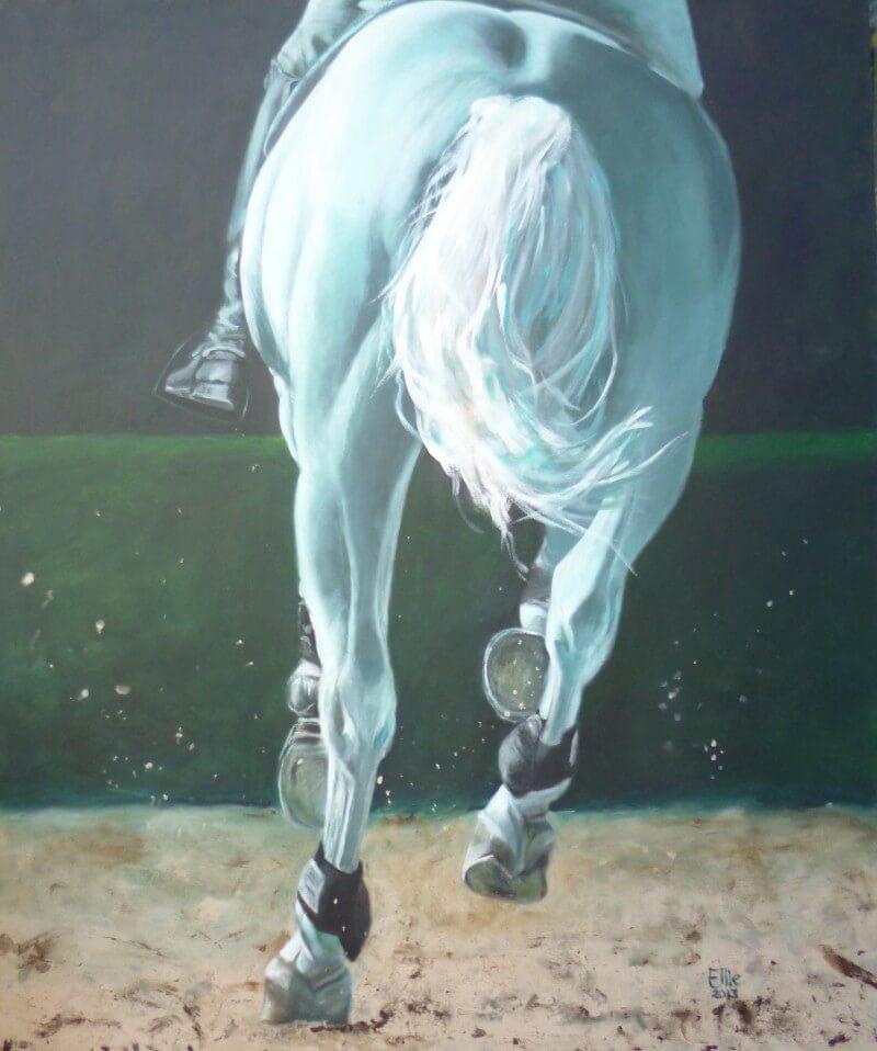 Barrage - Paardenschilderij - Ellie Schrotenboer