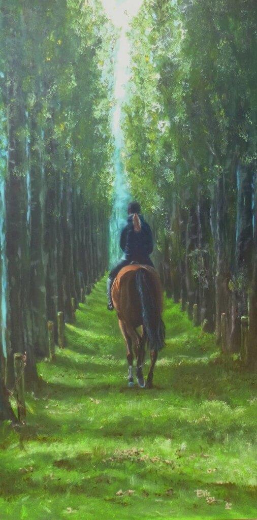Merci2Merci - Paardenschilderij - Ellie Schrotenboer